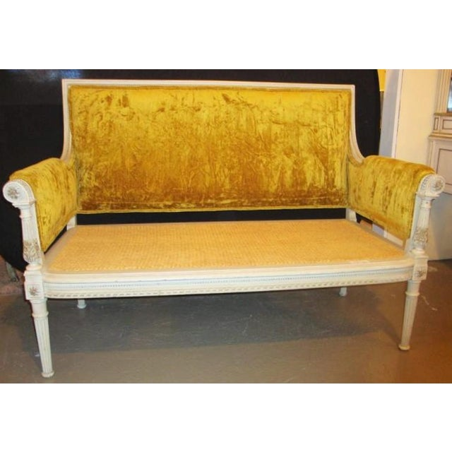 Antique Maison Jansen Style Settee in a Swedish Finish - Image 2 of 7