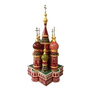 """Unique """"Saint Basil's"""" Painted Wood Model"""