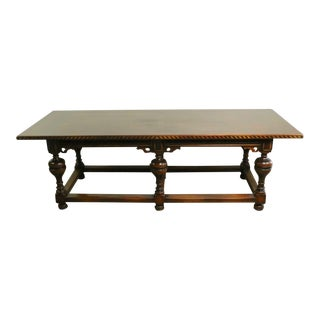 Conference Library Table Attributed to Berkey and Gay For Sale