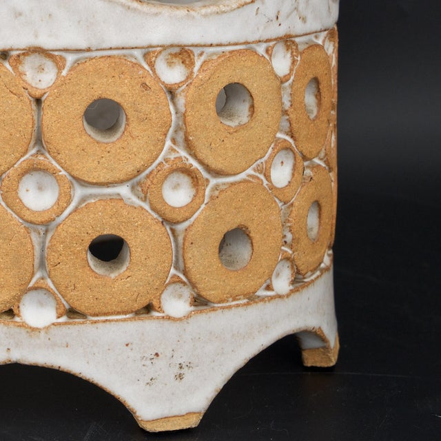 1960s Stoneware Crown Candelabra by Hal Lasky for Isla Del Sol Pottery For Sale In Washington DC - Image 6 of 8