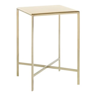 Contemporary Caracole Gold Bullion Side Table For Sale
