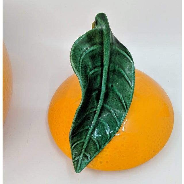 Ceramic Vintage Ceramic Orange Fruit Cookie Jar For Sale - Image 7 of 11