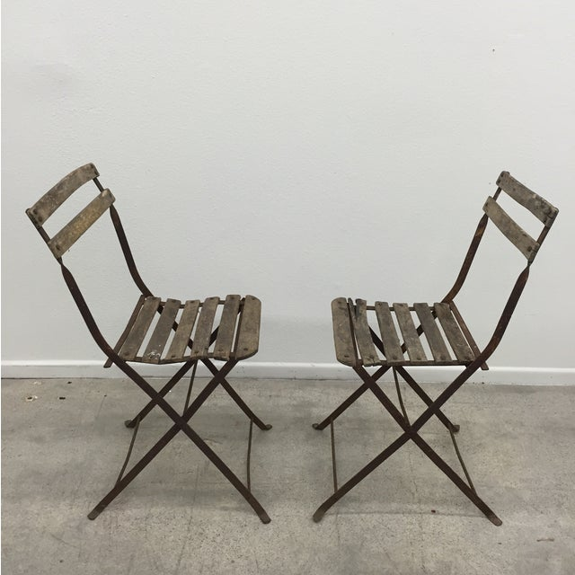 Vintage French Garden Chairs - Pair For Sale - Image 7 of 7