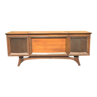 1960s Danish Modern Solid State Stereo Record Player Console For Sale