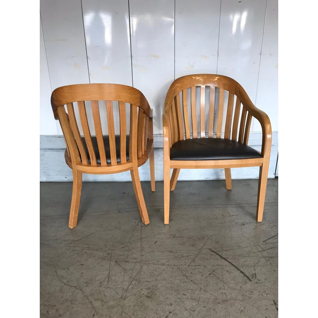Ward Bennett for Brickel Associates Rare Library Chairs - A Pair For Sale - Image 10 of 11