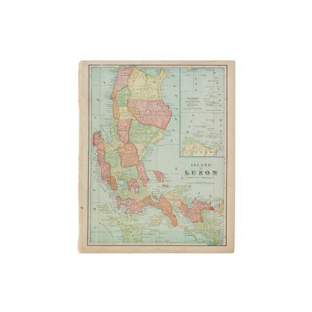 1900 - 1909 Cram's 1907 Map of Luzon For Sale - Image 5 of 5