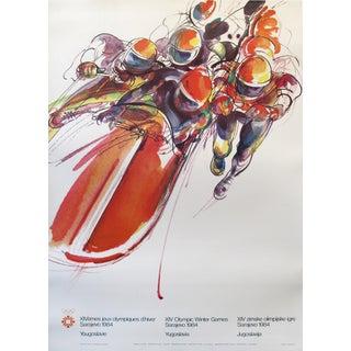 1984 Original Sarajevo Olympics Bobsled Poster, Yugoslavia For Sale