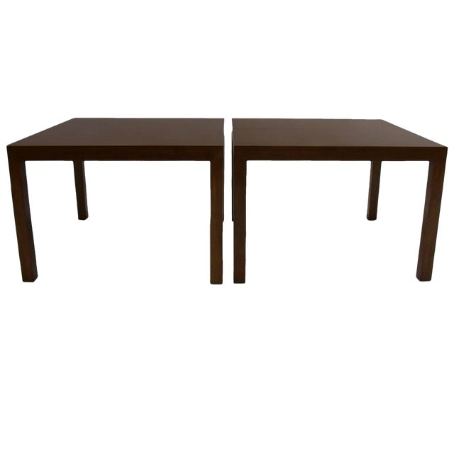 Pair ofScale Edward Wormley for Dunbar Parsons Tables in Dark Mahogany For Sale