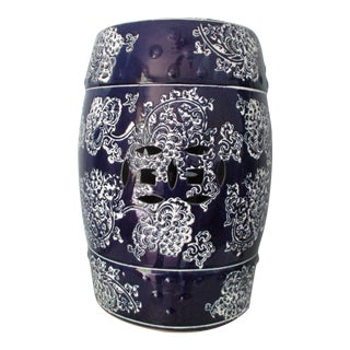 Chinoiserie Style Garden Stool For Sale