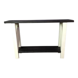 Farmhouse White Painted Entry Table