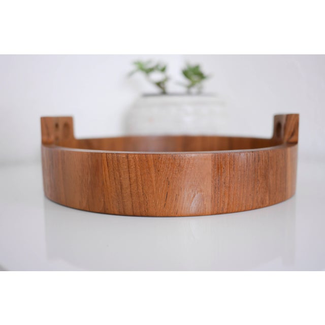 Danish Modern Teak Serving Tray by Birgit Krogh for Woodline - Image 5 of 6