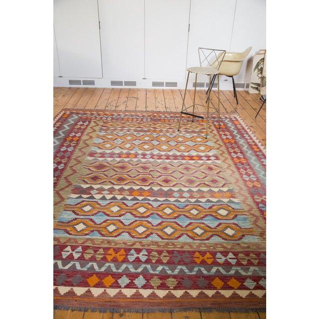 "Contemporary Kilim Carpet - 7'10"" x 9'6"" - Image 3 of 6"