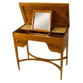 Louis XVI Walnut Ladies Desk or Dressing Table For Sale