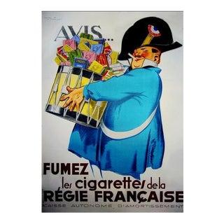 1920s Original French Art Deco Poster, Avis Fumez - Regie Française For Sale