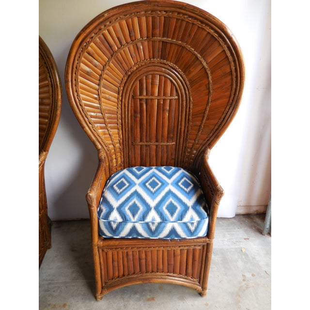 Vintage Bamboo Peacock Chairs - A Pair - Image 3 of 8