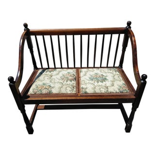 1970s Vintage Country 2 Seat Bench For Sale