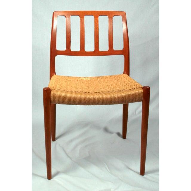 Danish Modern Niels Moller Danish Modern Model No. 83 Teak Dining Chairs - Set of 4 For Sale - Image 3 of 9
