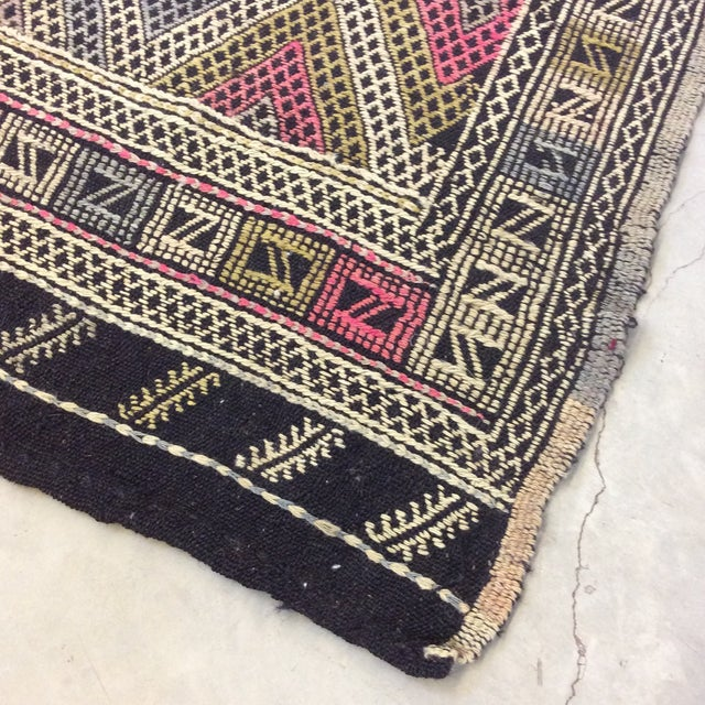 "Textile 1960's Turkish Kilim - 6'3""x7'9"" For Sale - Image 7 of 13"