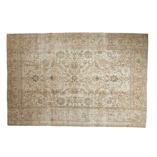 "Vintage Distressed Sparta Carpet - 6'5"" X 9'7"" For Sale"