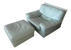 Image of Shabby Chic Chair and Ottoman Sets