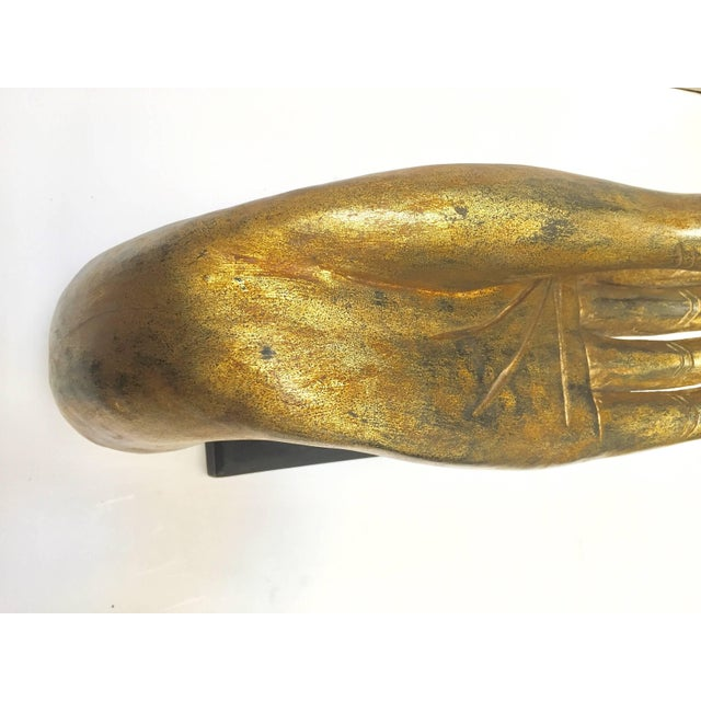 Giltwood Buddha Hand on Stand, Thailand For Sale - Image 10 of 13