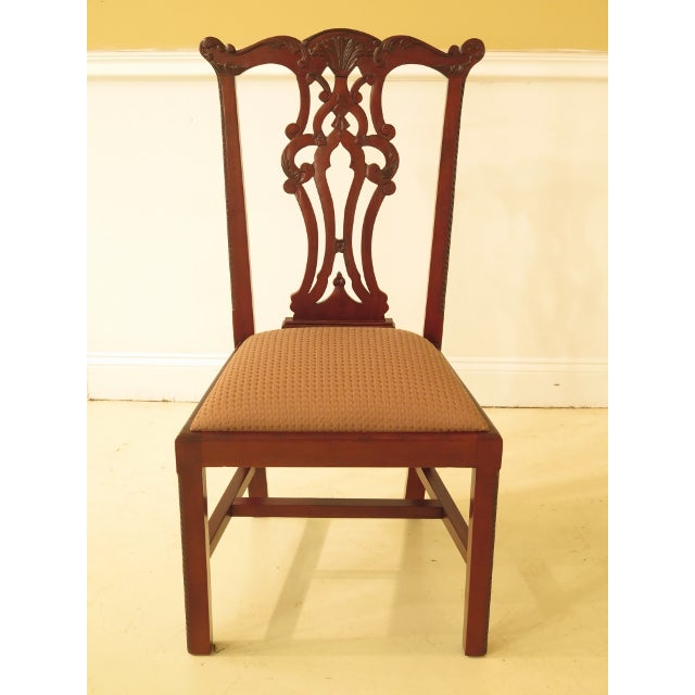 Ej Victor Chippendale Style Mahogany Dining Chairs - Set of 8 For Sale - Image 10 of 13