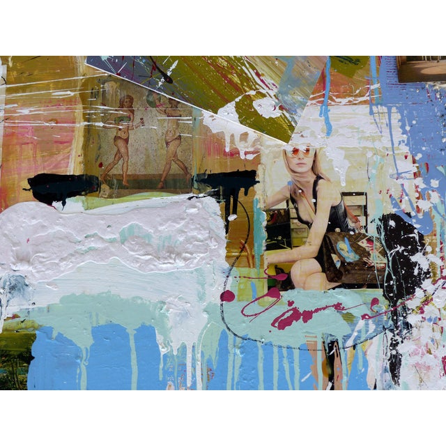 """Modern William P. Montgomery Abstract Mixed Media Painting """"Swamp Talk 1/2"""", 2015 For Sale - Image 3 of 13"""