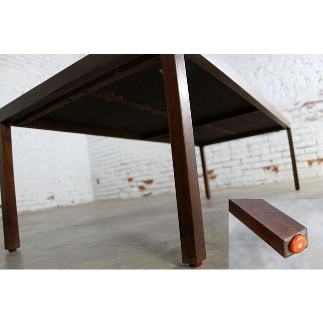 Lewis Butler for Knoll Walnut & White Laminate Coffee Table For Sale - Image 11 of 11
