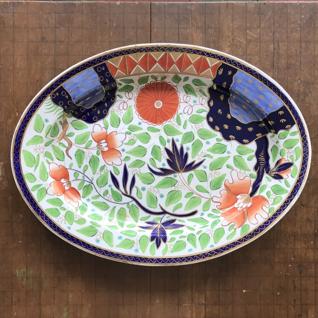English Traditional 1820s Gaudy Ironstone Platters - a Pair For Sale - Image 3 of 11