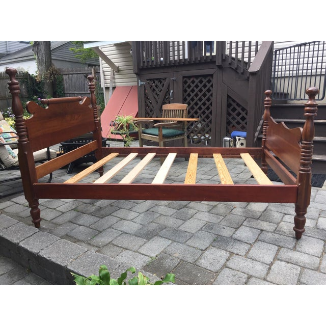 Traditional 20th Century Full-Size Cherry Bedframe For Sale - Image 3 of 13