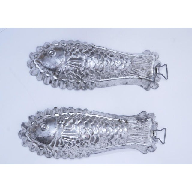 1960s 1960s Tinned Steel Fish Molds - a Pair For Sale - Image 5 of 5