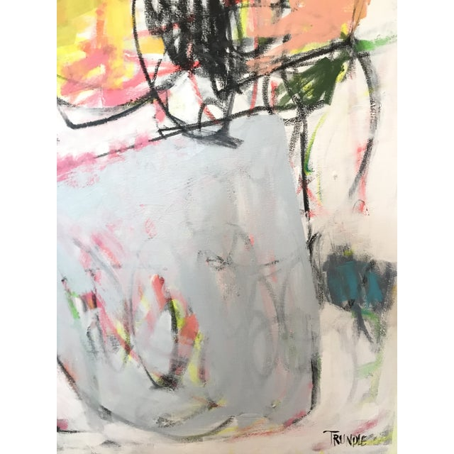 Abstract Scrappy Flowers No. 2 Contemporary Painting For Sale - Image 3 of 6