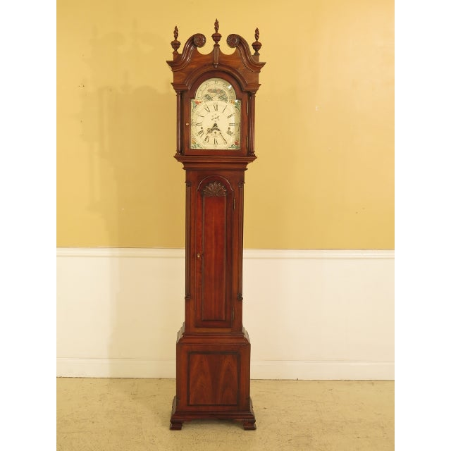 Sligh John Goddard Cherry Grandfather Clock For Sale - Image 13 of 13