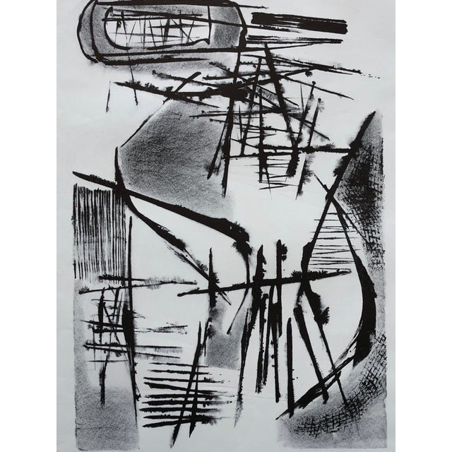 1940s Jerry Opper Mid Century Abstract Stone Lithograph For Sale - Image 5 of 10