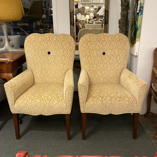 Decorators Walk John Oetgen Collection Chairs - a Pair For Sale - Image 12 of 12