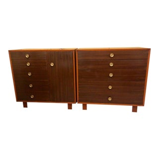 Pair of George Nelson Design for Herman Miller Chests / Dressers / Commodes For Sale