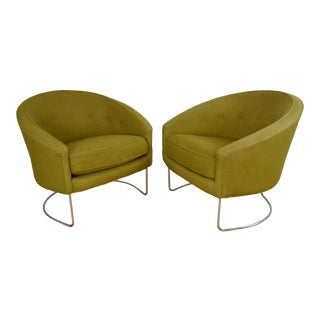 Lawrence Peabody for Nemschoff Mid Century Modern Club Chairs - a Pair For Sale