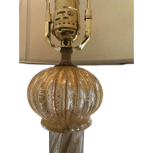 1970s Vintage Murano Glass Lamps - A Pair For Sale - Image 4 of 9