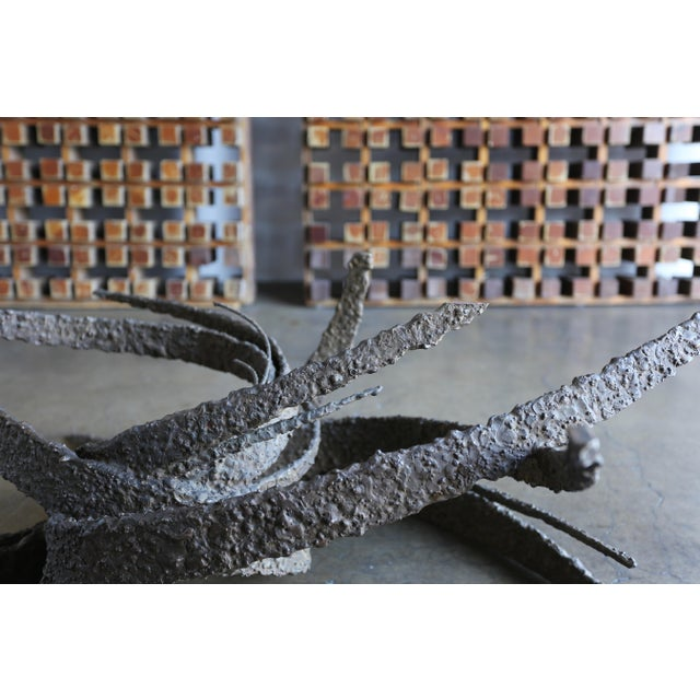Brutalist Mid 20th Century Daniel Gluck Bronze Sculptural Coffee Table For Sale - Image 3 of 13