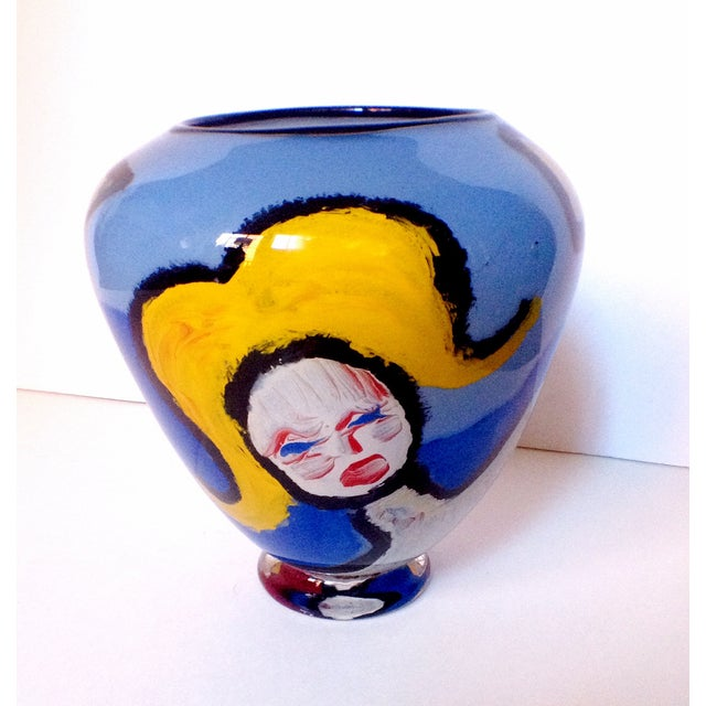 Handblown Faces Vase by Thor Bueno - Image 2 of 6