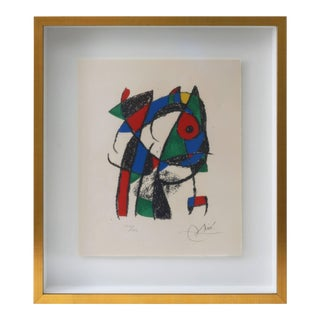 Joan Miro Lithograph, Miro Lithographs Ii, Circa 1975, Plate 2 Ltd Ed For Sale