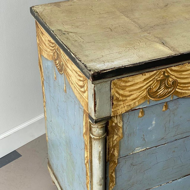 Mid 19th Century 19th C. Swedish Painted Chest For Sale - Image 5 of 8