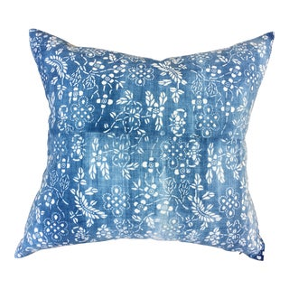 Antique Chinese Chinoiserie Batik Euro Pillow For Sale