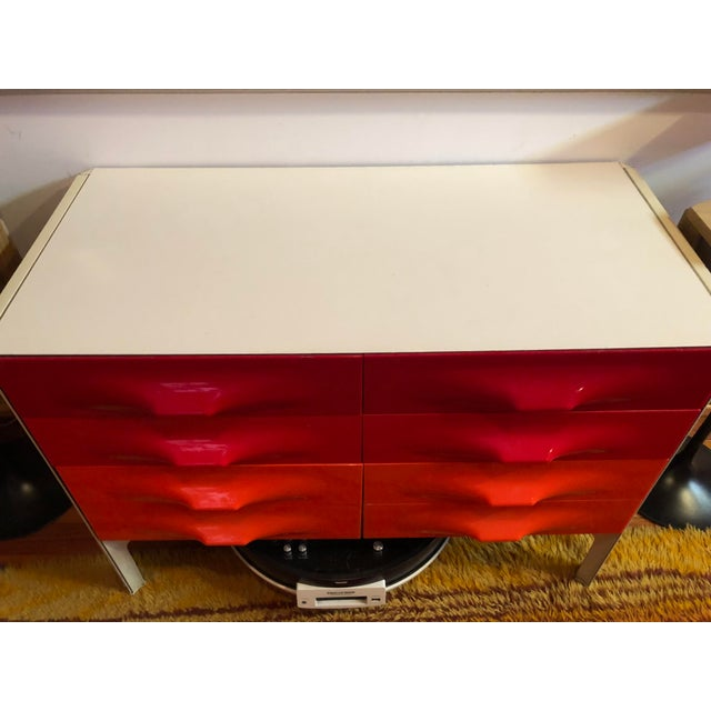Red 1960s Raymond Loewy Chest Of Drawers For Sale - Image 8 of 11