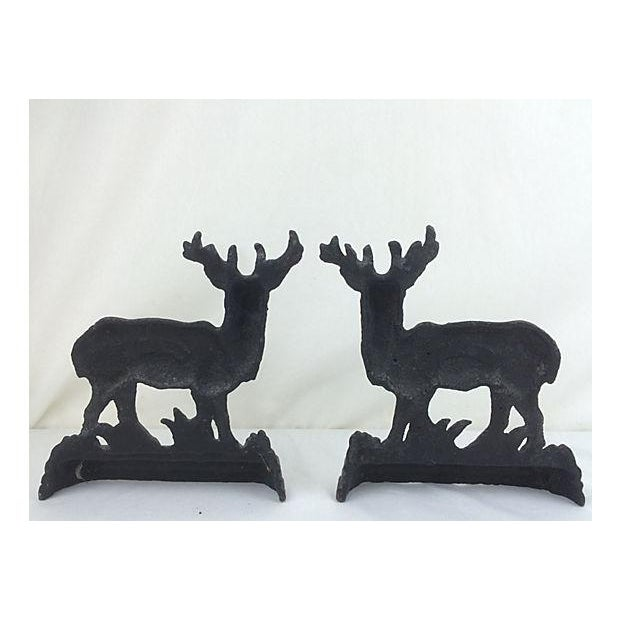 English Cast Iron Stags - A Pair - Image 3 of 3