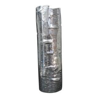 Michael Aram Bark Polished Aluminum Vase For Sale