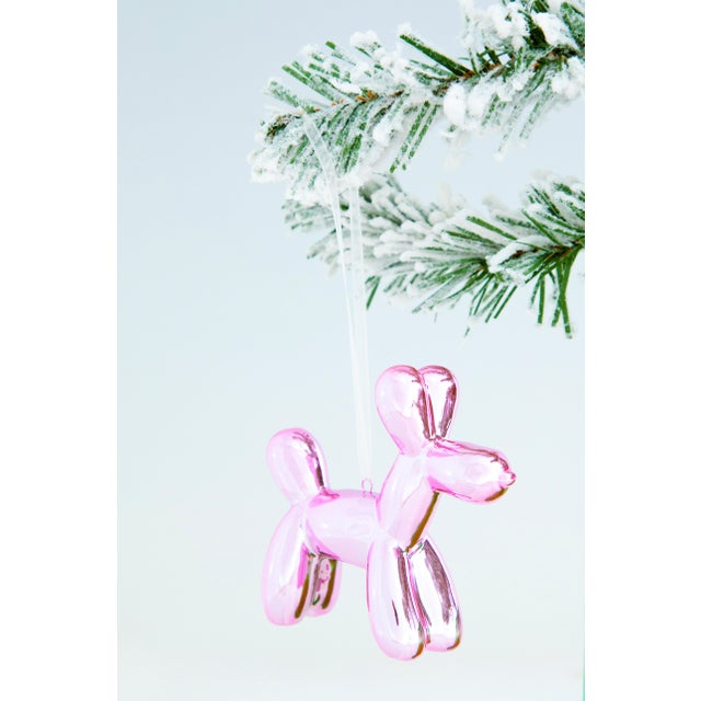 """Ceramic Interior Illusions Plus Holiday Balloon Dog - 3.25"""" tall - Set of 6 For Sale - Image 7 of 12"""