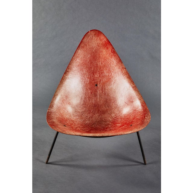An Early French Ed Merat Fiberglass Easy Chair For Sale In Los Angeles - Image 6 of 9