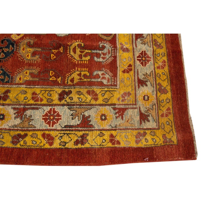 "Vintage Persian Tribal Bakshaish Rug, 7'6"" X 10'5"" For Sale - Image 9 of 10"