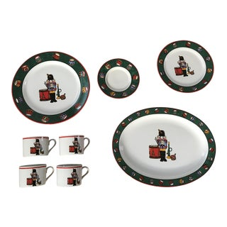 Bob Timberlake 1994 Holiday Spirit Dinnerware Set - Table Setting for 4 and a Serving Platter For Sale